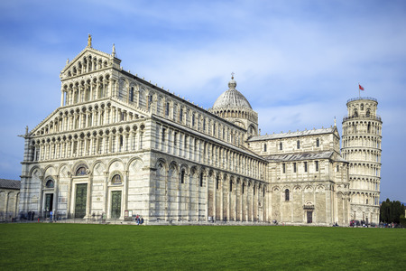 pise: View of the great Piazza Miracoli in Pisa Italy