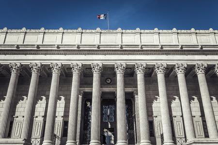 Gerichtsgebäude in Lyon, Frankreich. Sonder photograpic Verarbeitung.