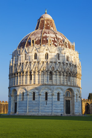 miracle square: Pisa, famous Miracle Square view.  Stock Photo