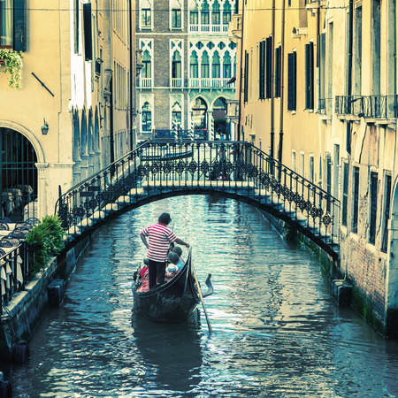 pictorial Venetian canal with gondola