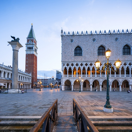 venezia: San Marco square in the morning, Venice Italy. Stock Photo
