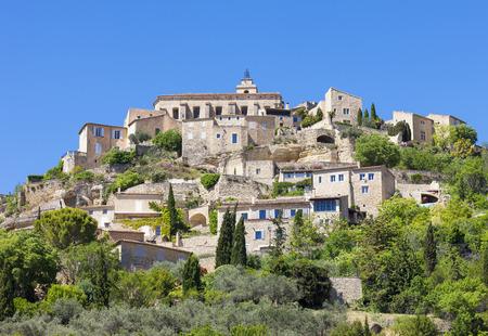 gordes: Famous Gordes medieval village in Southern France Stock Photo