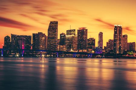 CIty of Miami at sunset, USA photo