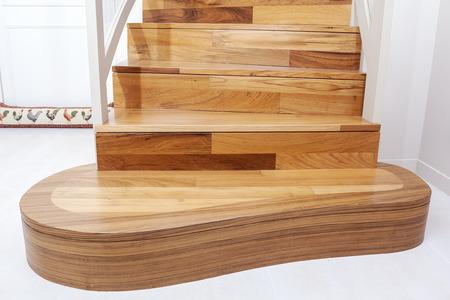 cosiness: Interior wooden stairs  Stock Photo
