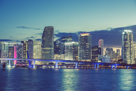 city of miami: Miami, Florida, USA, special photographic processing.