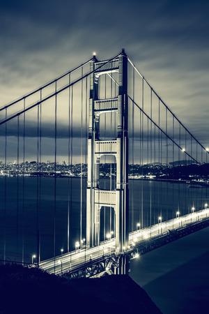 west gate: Golden Gate Bridge, San Francisco, special photographic processing.