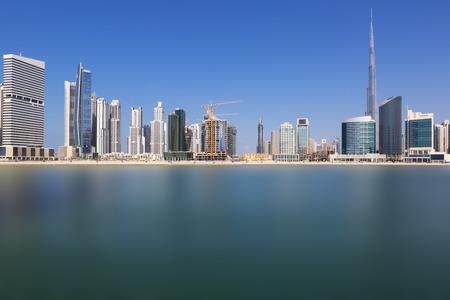 emirates: Dubai skyline, United Arab Emirates Stock Photo