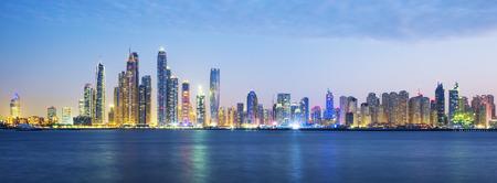 panoramic business: Panoramic view of Dubai, UAE.