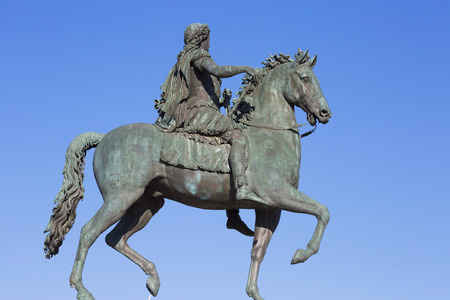 xvi: Famous statue of Louis XVI, Lyon, France.