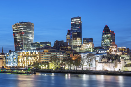 london skyline: City of London Skyline At Night