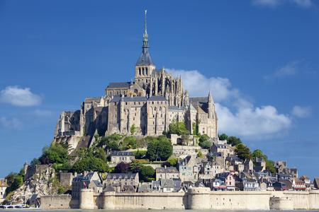 michel: View of Mont-Saint-Michel, France, Europe.