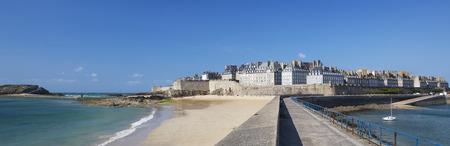 bretagne: Panoramic view of Saint Malo, Bretagne, France Stock Photo