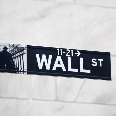 turmoil: Wall street sign in New York