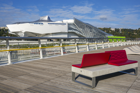 anthropology: LYON, FRANCE, october 8, 2015 : Musee des Confluences is a science and anthropology museum which opened on 20 December 2014 at the confluence of Rhone and the Saone rivers.