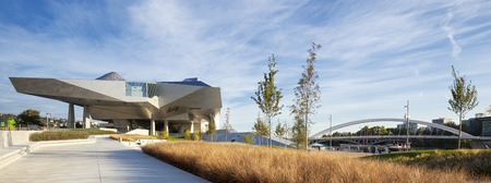anthropology: LYON, FRANCE, OCTOBER 8, 2015 : Musee des Confluences is a science and anthropology museum which opened on 20 December 2014 at the confluence of Rhone and the Saone rivers. Editorial