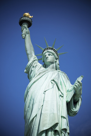 statue: Famous Statue of Liberty, New York, special photographic processing.