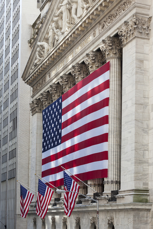 nyse: NEW YORK CITY - JULY 11: The New York Stock Exchange on Wall Street on July 11, 2015 in New York City. The NYSE is one of the most important stock exchanges worldwide. Editorial
