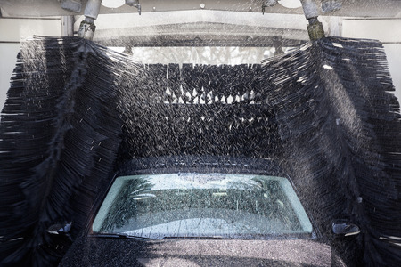 pollution free: Car during washing process