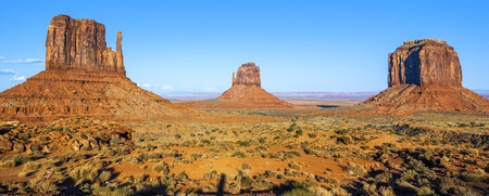 Famous Monument Valley with blue sky, USA
