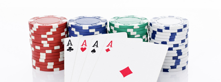 4 of a kind: Four aces of a kind and chips