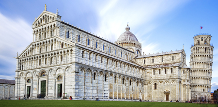image of the great Piazza Miracoli in Pisa Italy Stock Photo