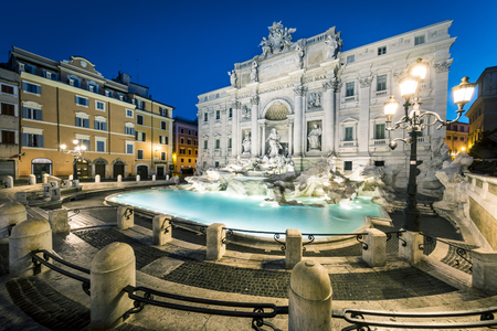 Trevi Fountain - the most famous of the fountains of Rome. Italy.