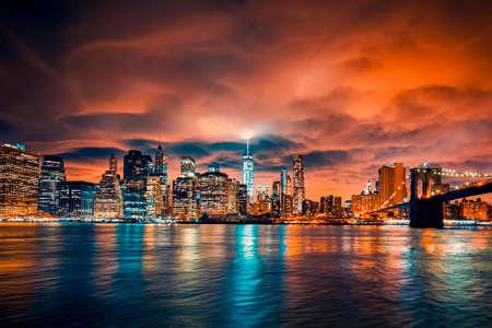View of Manhattan at sunset, New York City. Reklamní fotografie