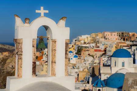 Famous view of Oia, Santorine, Greece 免版税图像