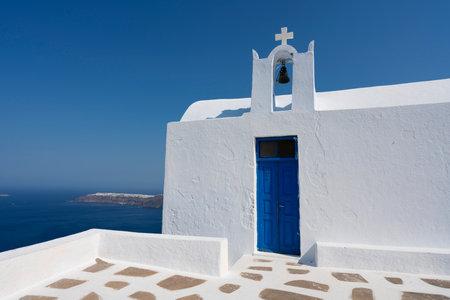 classical church at Imerovigli, Santorini, Greece