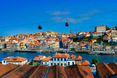 Famous view of Porto and Douro river, Portugal, Europe 免版税图像