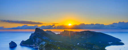 Famous view of sunrise at Formentor, Mallorca, Spain