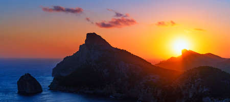 View of sunrise at Formentor, Mallorca, Spain