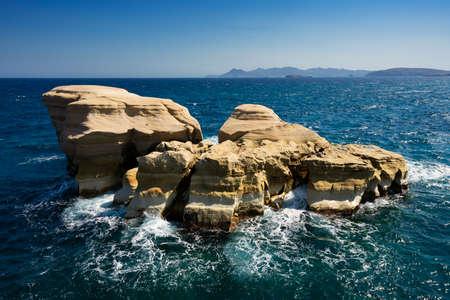 Famous rock at Sarakiniko beach, MIlos, Greece