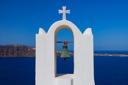 Traditional bell in Oia, Santorini, Greece