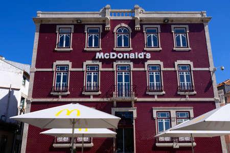 PORTO, PORTUGAL - AUGUST 20 2021: view of Mc Donald's restaurant in porto