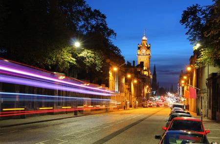 princes street: Long exposure shot of Princes Street, Edinburgh