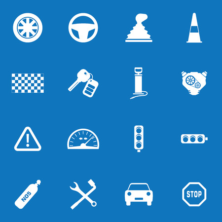 economy class: Auto vector icon set for web and mobile illustration