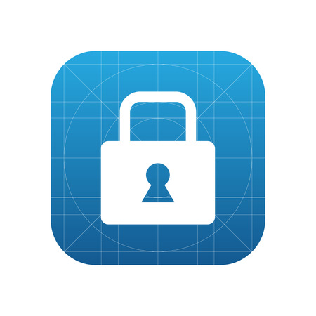 Lock, secure, access  sign icon, vector illustration. Lock symbol. Flat icon. Flat design style for web and mobile. Illustration