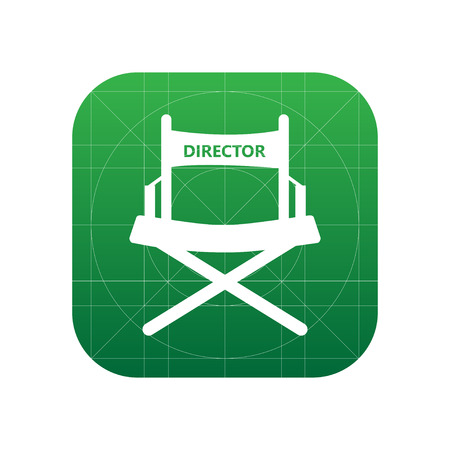 Director chair sign icon, vector illustration. Director chair symbol. Flat icon. Flat design style for web and mobile.