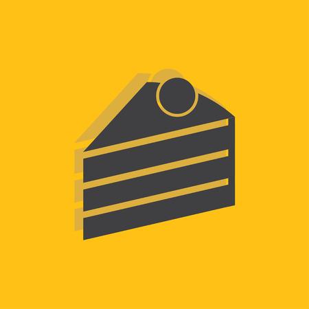 trozo de pastel: Pedazo de torta icono de la muestra, ilustración vectorial. Pedazo de torta de símbolo. icono plana. estilo de diseño plano para web y móvil.