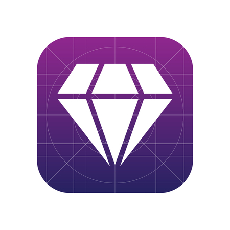 Diamond sign icon, vector illustration. Diamond symbol. Flat icon. Flat design style for web and mobile.