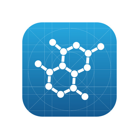 oxytocin: Chemical formula sign icon, vector illustration. Chemical formula symbol. Flat icon. Flat design style for web and mobile.