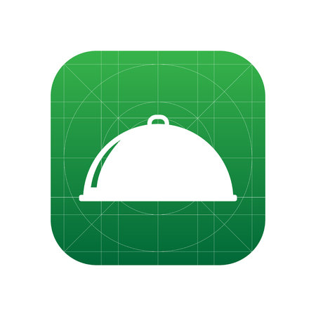 Restaurant cloche sign icon, vector illustration. Restaurant cloche symbol. Flat icon. Flat design style for web and mobile.