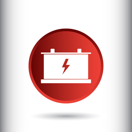 Battery sign icon, vector illustration. Car battery symbol. Flat icon. Flat design style for web and mobile.