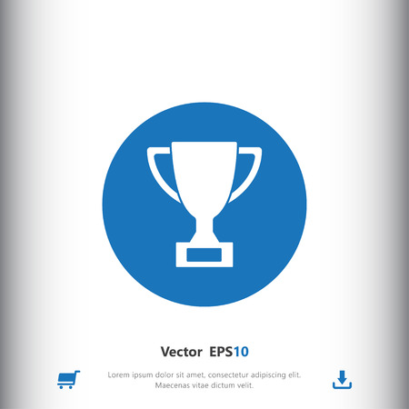 Trophy sign icon, vector illustration. Trophy symbol. Flat icon. Flat design style for web and mobile. Illustration