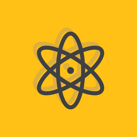 Atom, nucleus sign icon, vector illustration. Nucleus symbol. Flat icon. Flat design style for web and mobile.