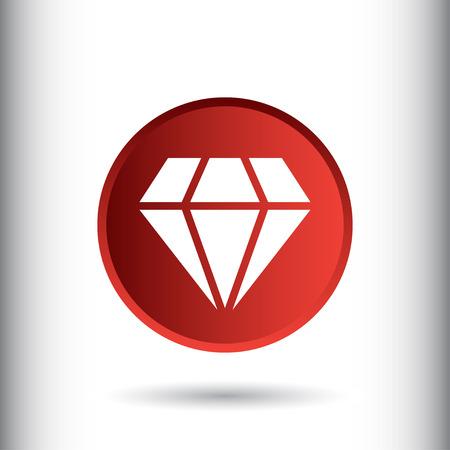 Diamond sign icon, vector illustration. Diamond symbol. Flat icon. Flat design style for web and mobile.