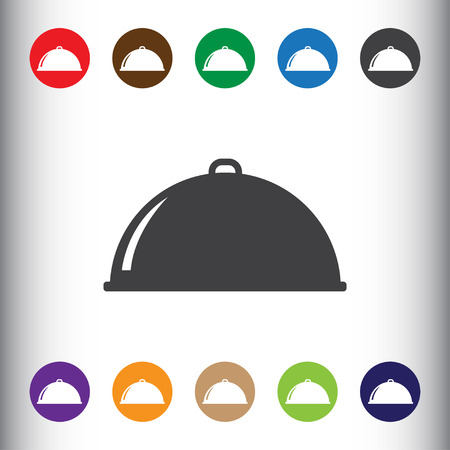 dine: Restaurant cloche sign icon, vector illustration. Restaurant cloche symbol. Flat icon. Flat design style for web and mobile.