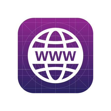 Internet sign icon, vector illustration. Www web world wide web symbol. Flat icon. Flat design style for web and mobile. Illustration