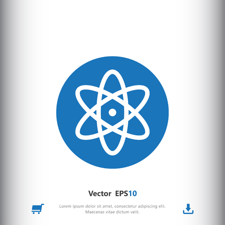 nucleus: Atom, nucleus sign icon, vector illustration. Nucleus symbol. Flat icon. Flat design style for web and mobile.